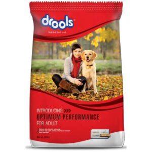 Drools optimum performance adult dog food 20kg – test