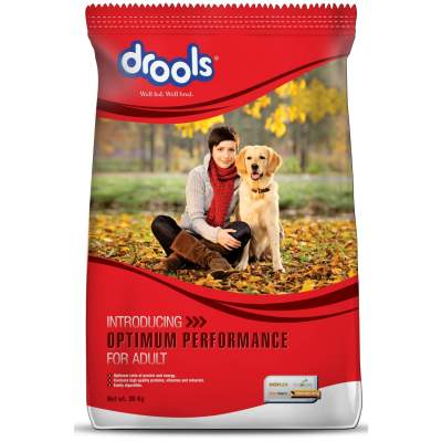 Drools optimum performance adult dog food 20kg – test