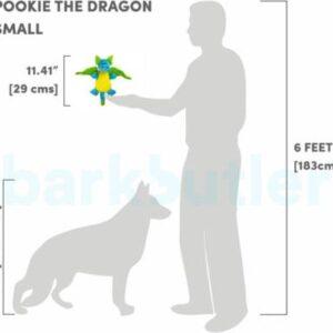 Barkbutler Pookie the dragon – Soft dog Toy – S